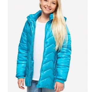 BNWT Justice Winter Water Resistant Coat - Girls